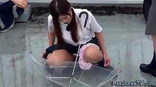 Japanese teen piss park