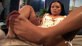 japanese drains ME OF WITH HER feet