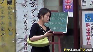 Japanese peeing carpark