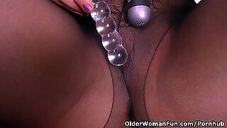 Latina milf Maribel plays with her bang-out fucktoys